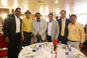 3) L to R : Dr.Tarig Mohy Eldin Algemiabi of Fast International Co., Rahul Bishnoi of Medicamen Biotech Ltd, Dr.Alfatih Mohamed Saeed former Minister of Health, Ashutosh Gupta Chairman Pharmexcil, Paresh Chawla of Alpa Labs and Urologist Dr. Anil Kumar Mithani